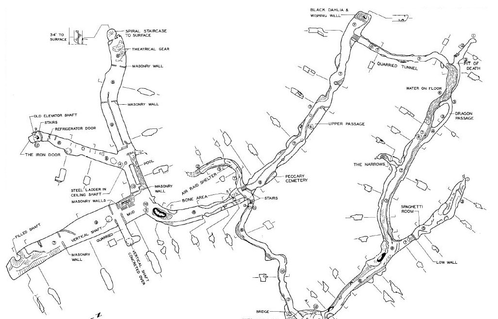 cherokee cave Sea Cave Diagram let s have a look at a map of lemp caverns and cherokee cave click for a readable version